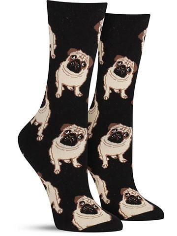 cool pug socks for women by socksmith