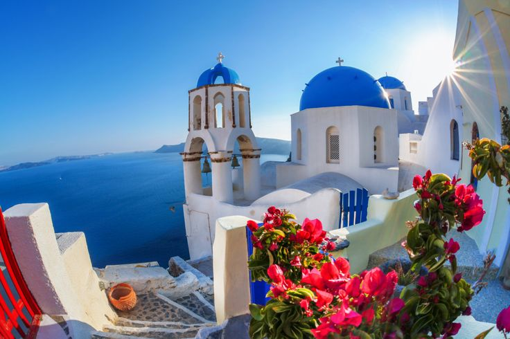 Oia Village, Santorini Island, Greece puzzle in Great Sightings jigsaw puzzles on TheJigsawPuzzles.com. Play full screen, enjoy Puzzle of the Day and thousands more.