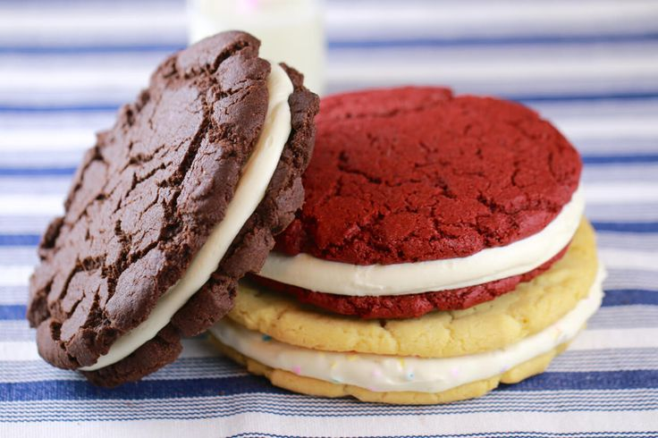 Learn how to make Giant Oreo Cookies including original Chocolate, Red Velvet & Birthday Cake Oreo. They're big enjoy to share or just enjoy them yourself!