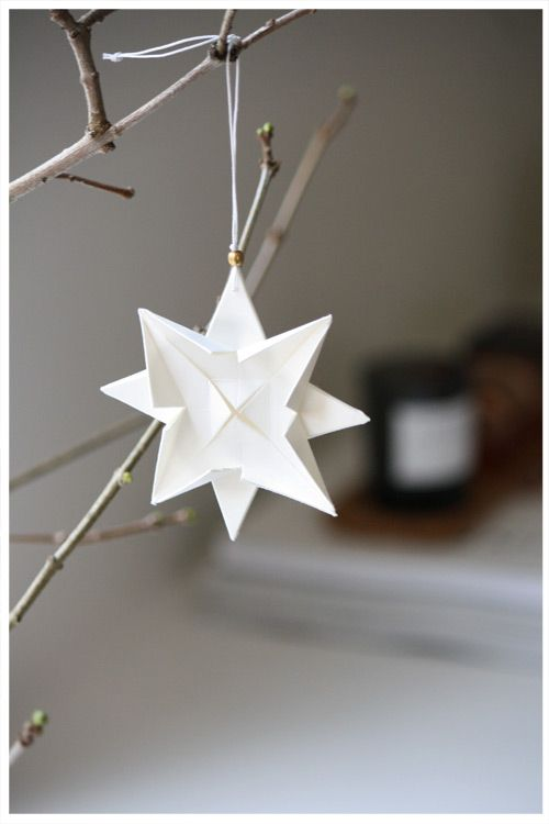 December ~ Advent ~ Week One: The Light of Crystal & Stone ~ 3D Paper Star