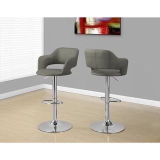 Shop For Light Grey And Chrome Metal Hydraulic Lift Stool. Get Free Shipping  At Overstock