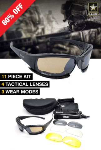Поляризованные X7 Тактические взрывозащищенные военные очки США