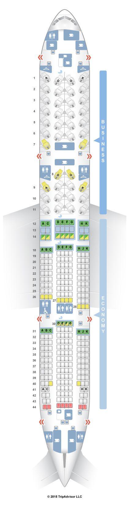 SeatGuru Seat Map Air Canada Boeing 777-200LR (77L) Two Class V2