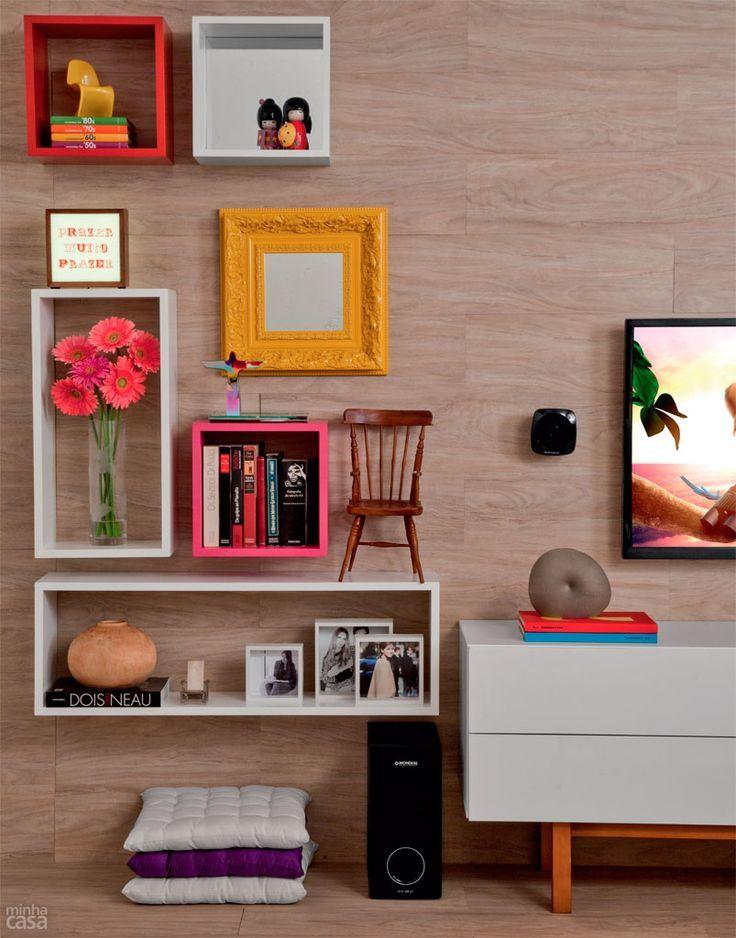 Ideias para decorar parede com tecido, espelho, prateleira, quadros, pintura, gravuras, posters e deixar sua casa bonita