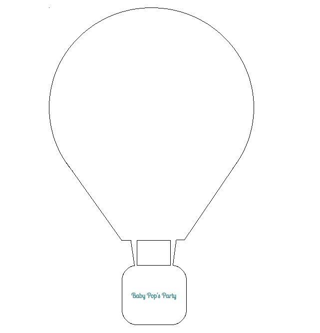 gabarits tuto diy montgolfière vectoriel mobile bébé chambre hot air tutoriel baby pop's party
