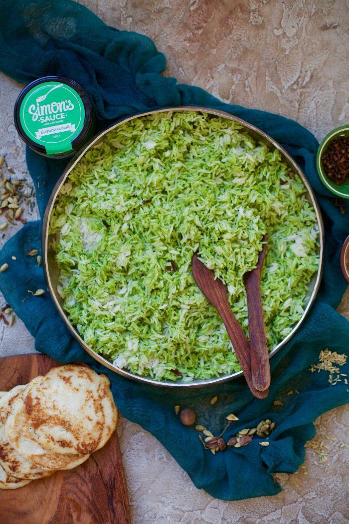 Wholesome Way : Ароматный рис басмати с пряностями и базиликовым соусом + рецепт лепешек доса (VEGAN, GF)
