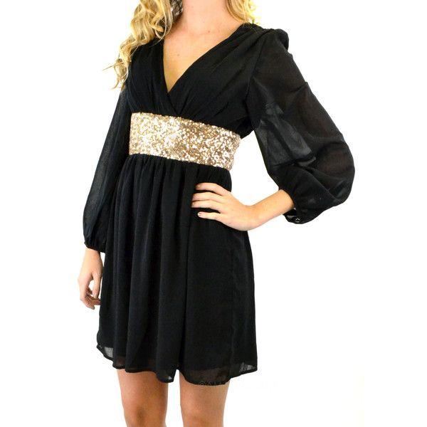 Gold n black dress