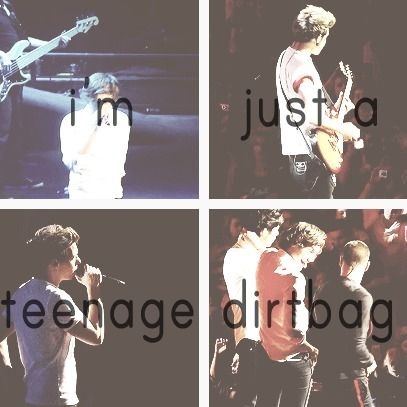I know I sound like a REALLY bad directioner but can someone tell me why they sing Teenage Dirtbag?? Trust me i love the song though :)