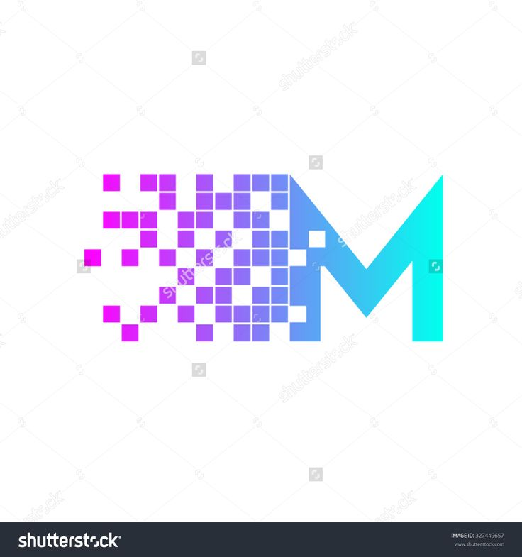 Letter M Logo Design.Network Digital Logo Icon Template ...