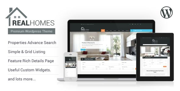 Real Homes - Powerful & Advance Real Estate Property WordPress Responsive Theme