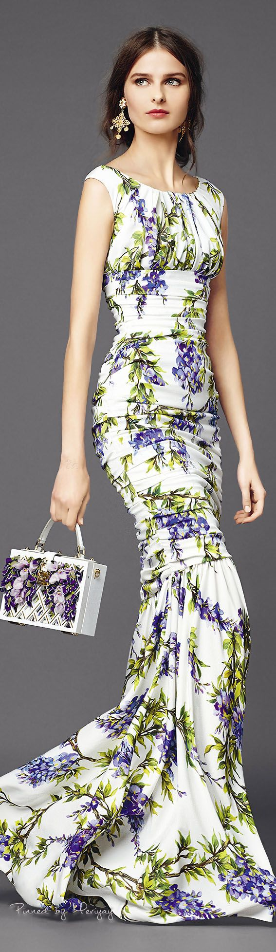 Dolce & Gabbana.~ Sleeveless Floral Maxi Dress 2015
