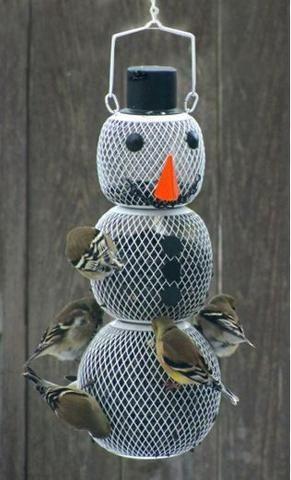 Snow Man Wild Bird Feeder