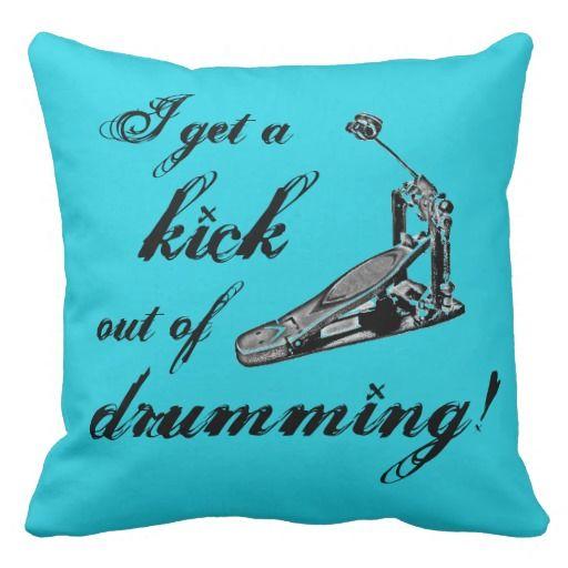 Cool Drummer Pillow Kick Drum Drumming Décor