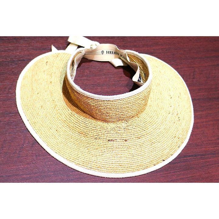 メルカリ商品: 超美品 ヘレンカミンスキー サンバイザー つば広帽子 ラフィア 麦わら帽子 #メルカリ #ヘレンカミンスキー #helen kaminski #サンバイザー #帽子