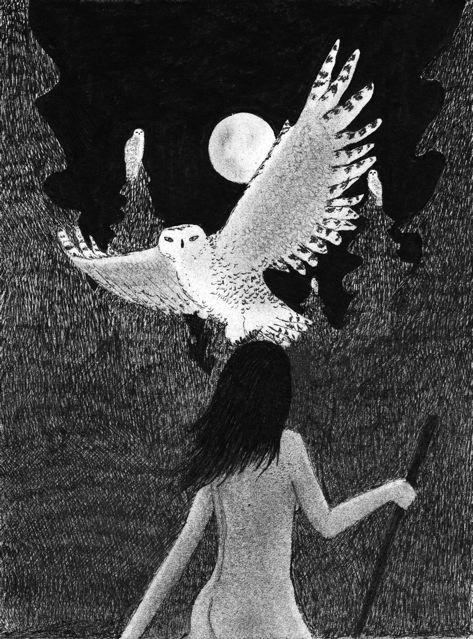 """Find Your Own Inner Sophia Wisdom"" (drawing by nakedpastor)"