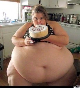Apologise, fat naked lady holding birthday cake