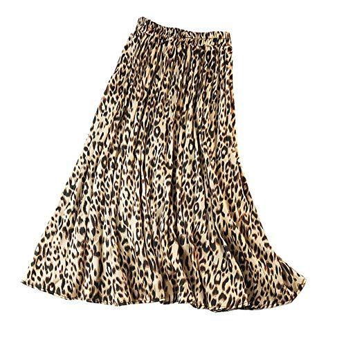 Animal Print Pleated Skirt Women Roman Originals