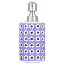 Cottage Flowers(c)White-Grape-Purple * Bathroom Set