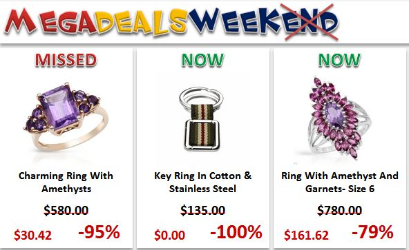 "At Mega Deals weekend event you'll find our HOTTEST DEALS from ""I Deal Smarter!"" even cheaper, including ELECTRONICS, COMPUTERS, CELL PHONES, JEWELRY, BOOKS, GIFTS & CRAFTS and so much more. CRAAAZZZY prices that can drop as deep as 100% discount. Don't miss the next Mega Deals Weekend!"