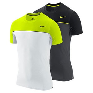Nike Men's Statement UV Tennis Crew. Best Dri-Fit UV protective crew shirt. Look stylish and protected from the sun while playing tennis.