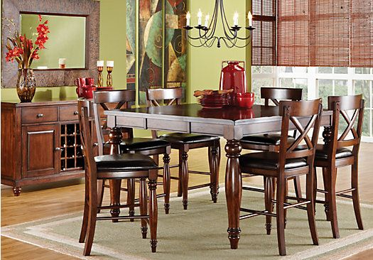 shop for a calistoga raisin 7pc counter height dining room at