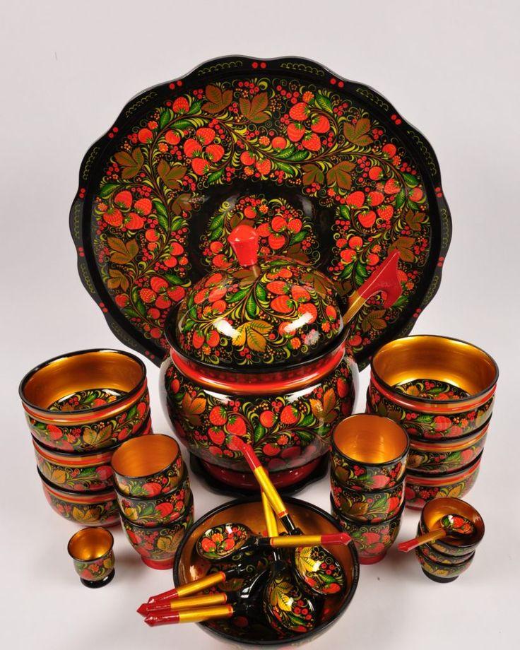 Русские узоры картинки на посуде