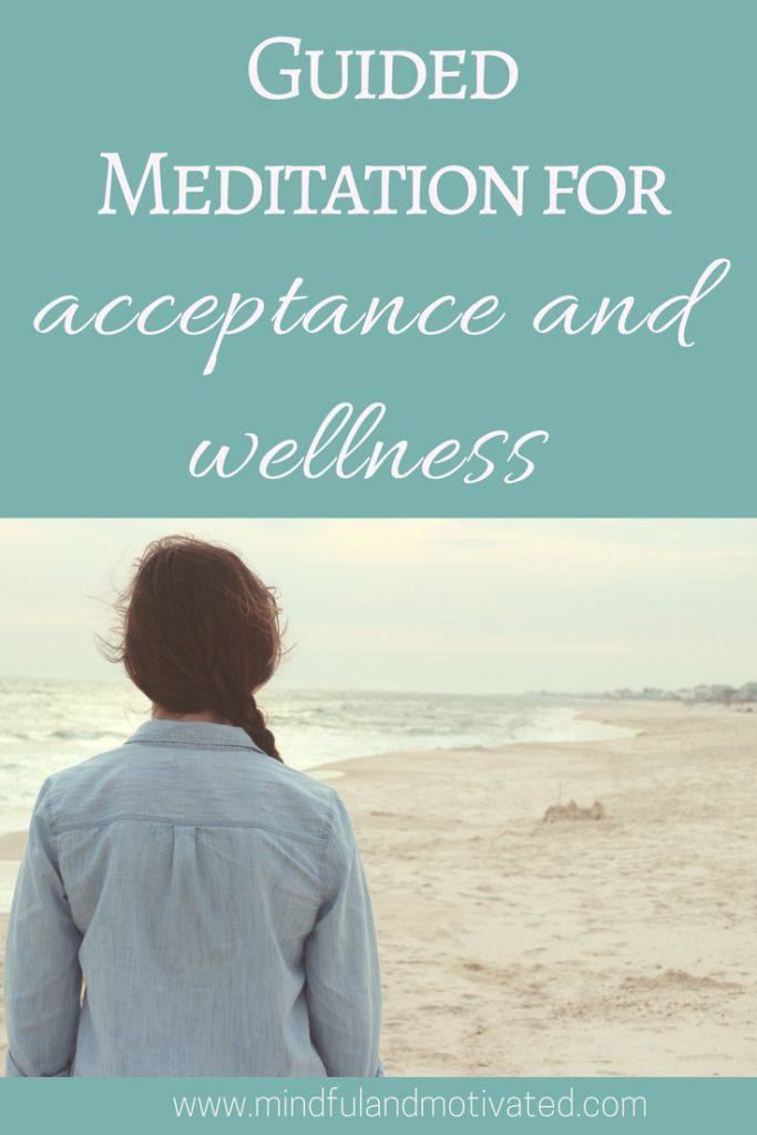 """Guided Meditation using mindfulness techniques to create relaxation and acceptance and the mantra """"I am here and all is well"""" to create wellness."""