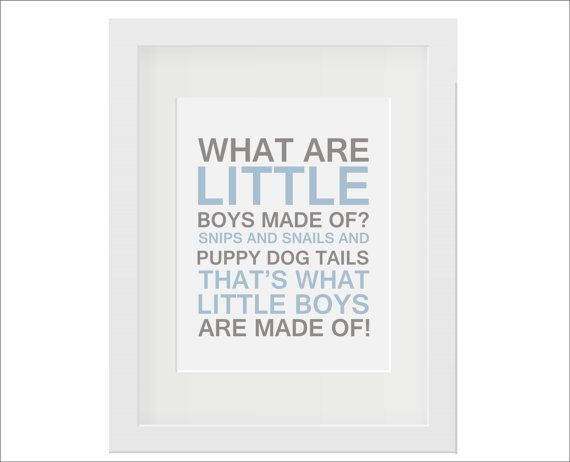 What Are Little Boys Made Of Poem Typography By