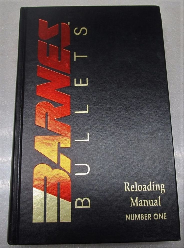Barnes Bullets Reloading Manual Number One 1992 Hardback Great Condition