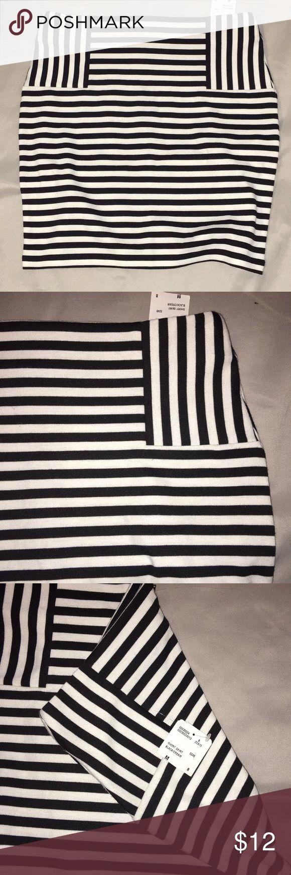 Forever 21 Black/White Striped Skirt!!! Forever 21 Skirt!!! Forever 21 Skirts Mini