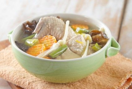 Sup ayam jamur kuping