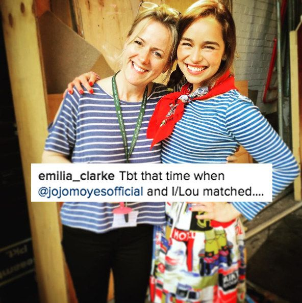 This movie obviously meant a lot to everyone. The cast spent time with the book's author, Jojo Moyes...