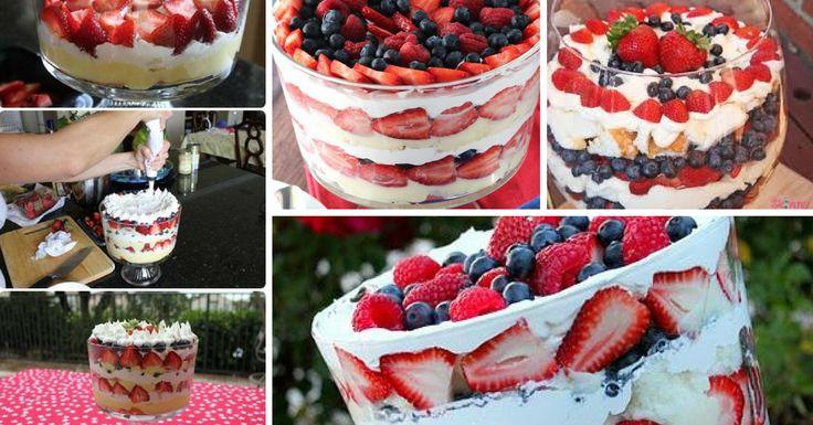Receita de Trifle de Frutos Vermelhos - http://topreceitasfaceis.com/receita-trifle-frutos-vermelhos/