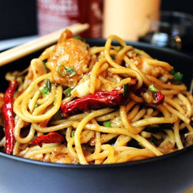 Deliciously spicy and sweet, this Kung Pao Chicken Spaghetti is a fan favorite and all time best seller from California Pizza Kitchen that you can make at home and with my adjustments enjoy it with about half the calories and ALL the taste! http://dinnerthendessert.com/cpk-best-seller-kung-pao-chicken-spaghetti-copycat/ * * #food #foodporn #yum #instafood #buzzfeast #huffposttaste #buzzfeed #popsugar #foodgawker #yummy #amazing #instagood #photooftheday #CPK #copycat #chicken #dinner #hot…