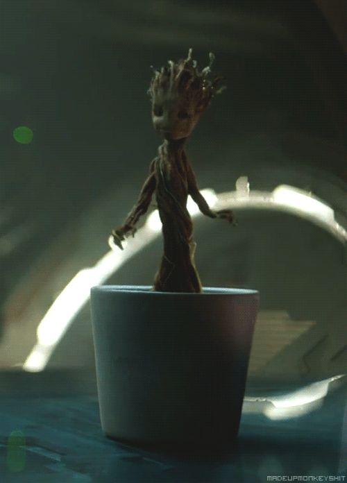 La escena de Groot bailando en la maceta iba a ser la última del film