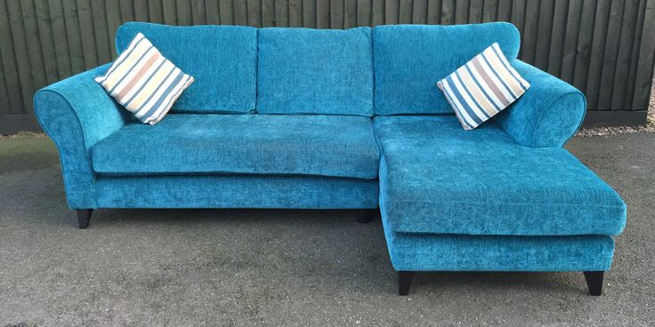 DFS Teal Corner Sofa in Home, Furniture & DIY, Furniture, Sofas, Armchairs & Suites | eBay