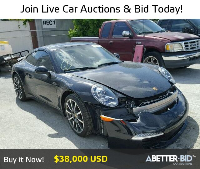 Salvage 2013 PORSCHE 911 For Sale