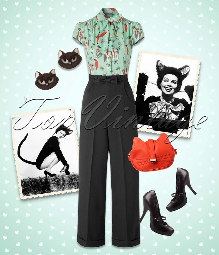 This retro look is too ''kitty'' to be true! So prrrrrrrrretty and elegant!