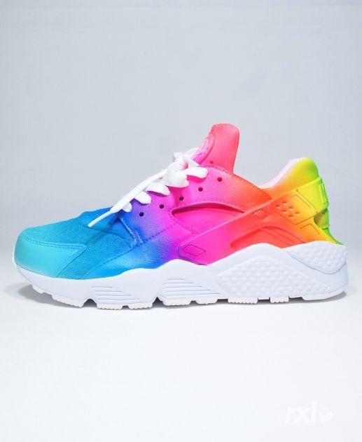 Better Quality Nike Air Huarache Womens Perfect Rainbow
