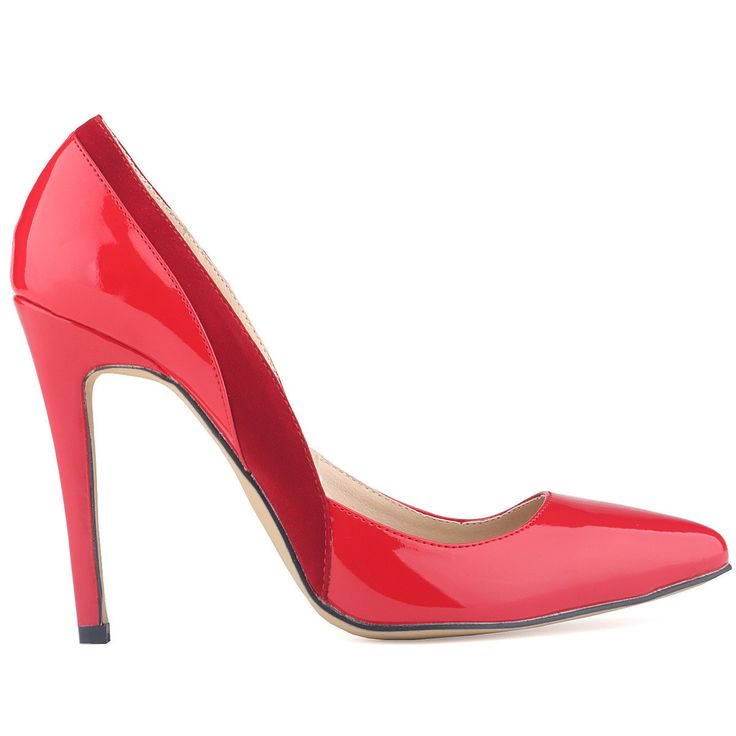 Classic Pointed Color Block High Heels Shoes