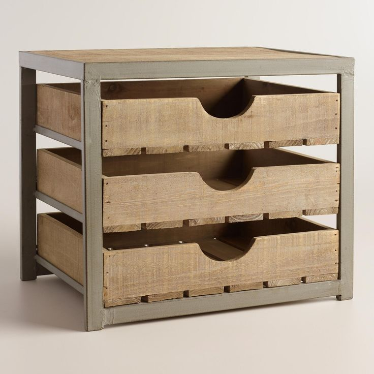 give your desktop storage a rustic appeal with our apple organizer u003e