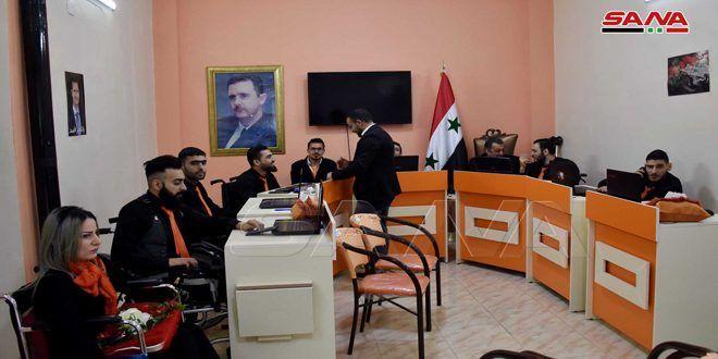 افتتاح أول شركة في حمص موظفوها من الجرحى جراء الإرهاب Conference Room Home Decor Decor