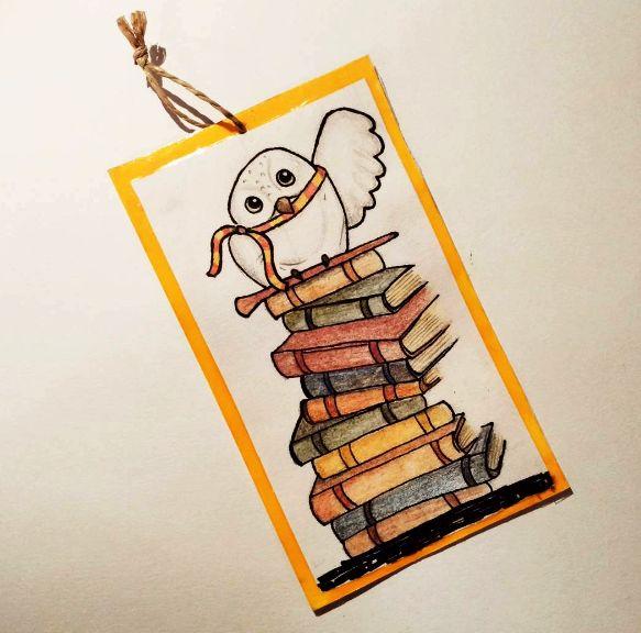 Harry Potter Hedwig bookmark DIY