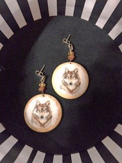 Wolf earrings.