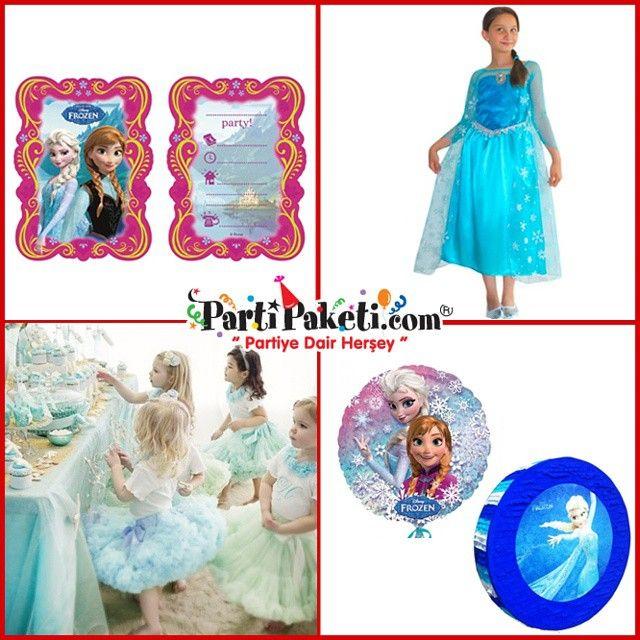 Disney'in en yeni karakterleri Frozen Karlar Ülkesi parti malzemeleri küçük kızların gözdesi. Küçük prensesleriniz  Anna olmak için birbirileriyle yarışır durumda öyle değil mi ? Siz de minik prenseslerinize bu duyguyu yaşatın ve birbirinden güzel parti malzemeleriyle eşsiz bir  Frozen konseptli parti hazırlayın…#PartiPaketi #Parti #Eğlence#PartiMalzemeleri #kızçocukpartifikirleri  #frozen #karlarülkesi