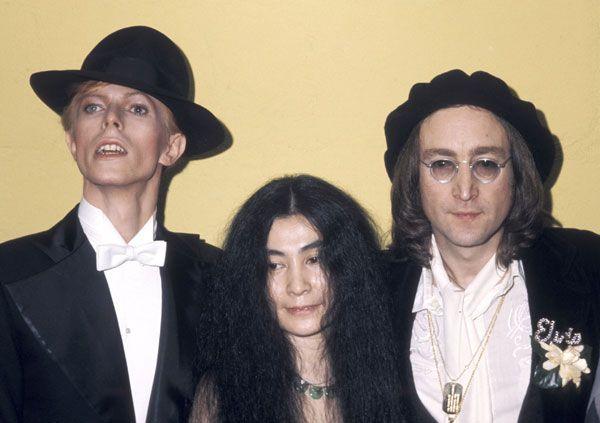 David Bowie, Yoko Ono & John Lennon (1975)