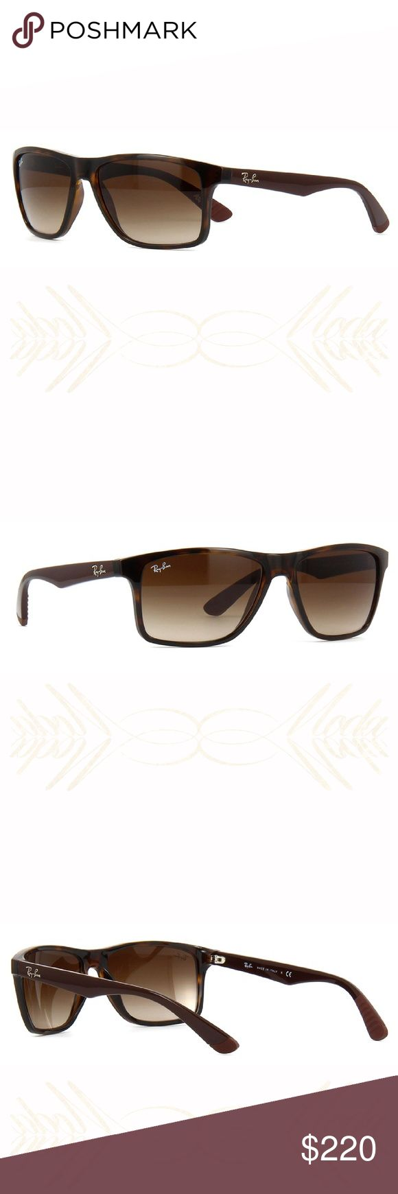 NWT Ray Ban RB4234 620513-58 Rectangle Sunglasses BRAND NEW AND AUTHENTIC  Ray Ban Sunglasses RB 4234 Tortoise 6205/13  Gender: Unisex Men / Women Frame Color: Havana Lens Color: Brown Gradient Frame Shape: Rectangle Frame Type: Full Rim Model Number: RB4234 Colour Code: 6205/13 Lens Size: 58mm Bridge Size: 16mm Temple Length: 140mm Material: Acetate Polarised: Not Polarised Best Fit: Round/Oval Faces  Comes with all Retail Packaging (Box, Dustbag, Case, Cleaning Cloth)  Like Us On Facebook…