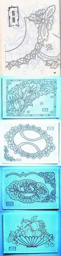 Рисунки для контурной вышивки и ришелье.. | īru raksts | Постила