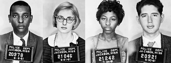 The Freedom Riders were civil rights activists who rode interstate buses into the segregated southern United States to test the United States Supreme Court decisions Boynton v. Virginia (1960) and Irene Morgan v. Commonwealth of Virginia (1946). The first Freedom Ride left Washington, D.C., on May 4, 1961, and was scheduled to arrive in New Orleans on May 17.  www.pbs.org/