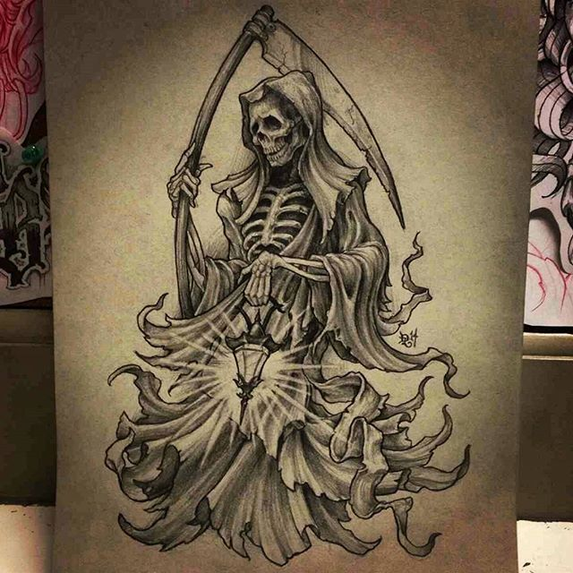 Gonna be getting this tattooed on me in 2 weeks! #grimreaper #reaper #tattoo